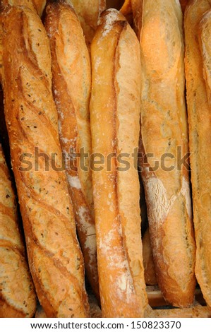 French Baguettes Fresh from the Oven - stock photo