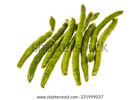 French beans isolated on white background