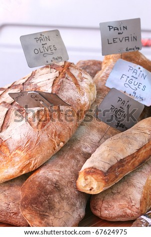 french bread freshly cooked - stock photo