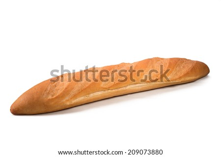 French bread  Isolated on White Background