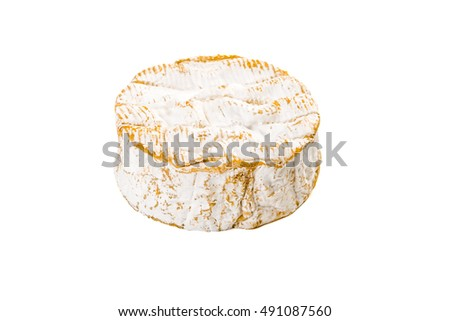 french cheese - camembert, isolated of white background