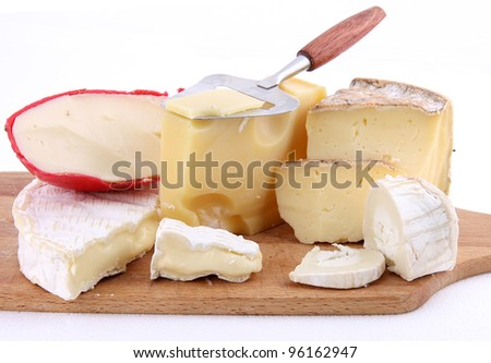 French cheeses - stock photo