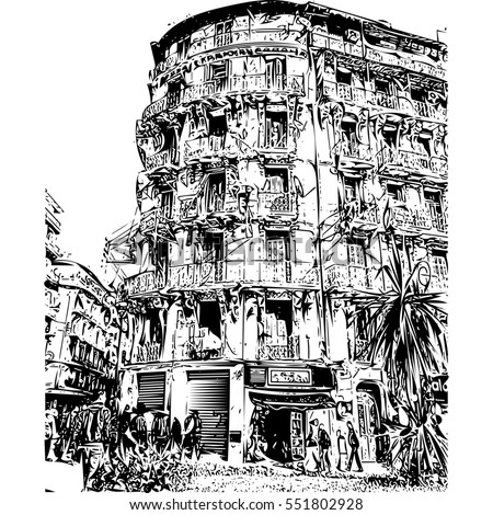French Colonial Side Of The City Algiers AlgeriaModern Has Many Old