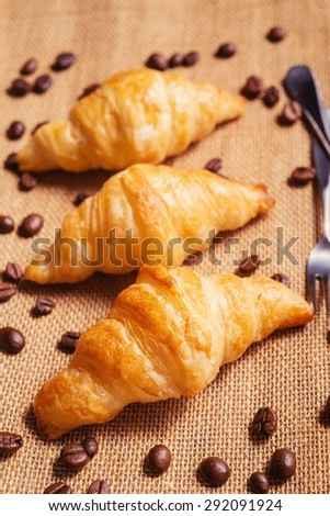 French croissant crescent moon eat it regularly for breakfast.