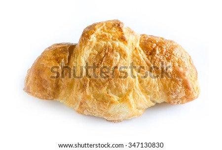 French croissant isolated on white background