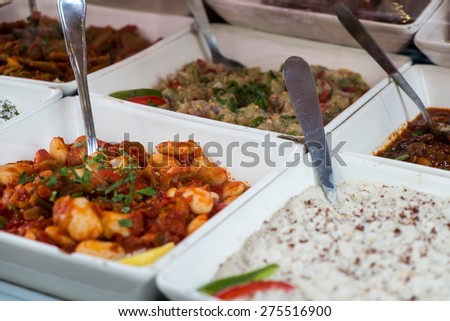 French cuisine in Paris, France - stock photo