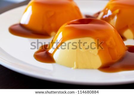 French dessert creme brulee - stock photo