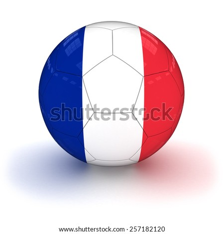 French Flag Football - stock photo