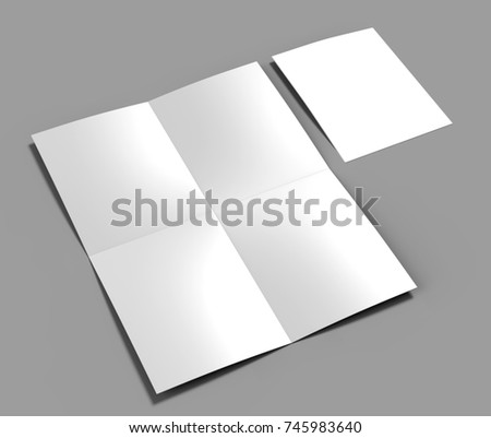 French Fold A 4 A 5 Square Brochure Stock Illustration 745983640