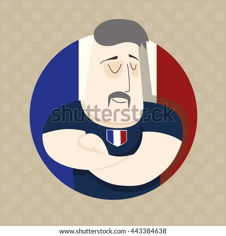 French football player - stock photo