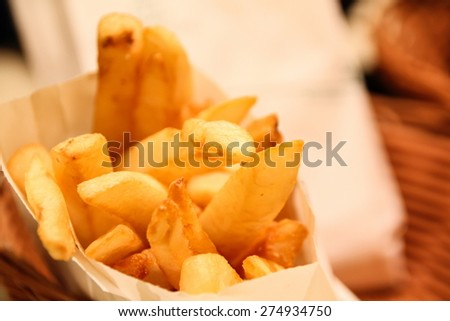 French fried - stock photo