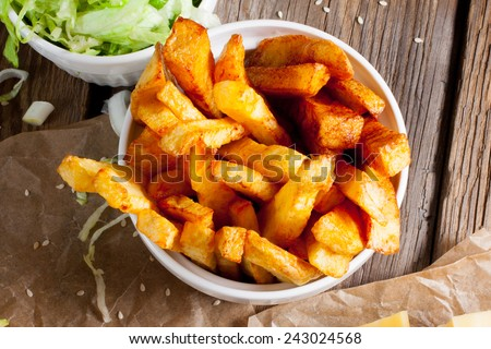 French fries. - stock photo