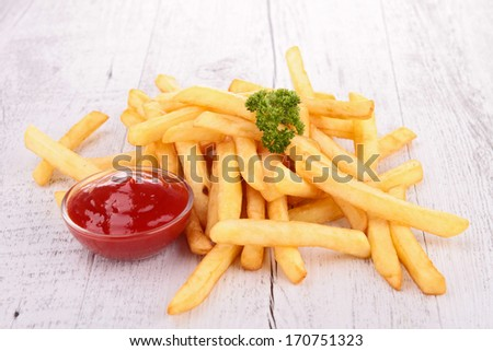 french fries and sauce