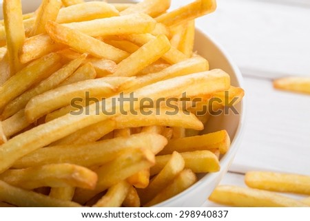 French Fries, Fast Food French Fries, Bowl.