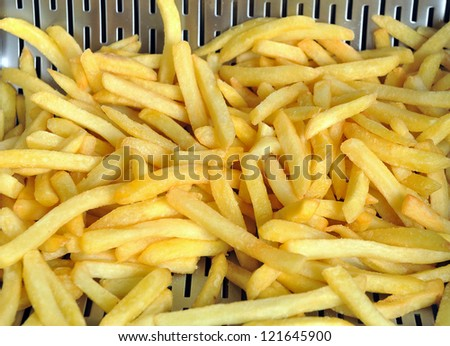 French fries grill - stock photo