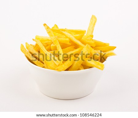 French fries in the bowl - stock photo