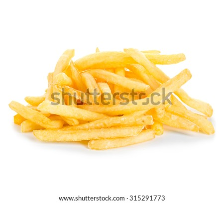 French fries isolated.