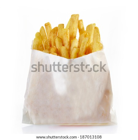 French fries isolated on a white background.  - stock photo