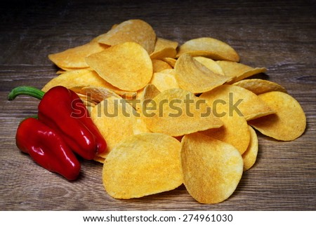 French fries with paprika - stock photo