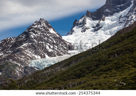 French Glacier, National Park Torres del Paine, Chile, Patagonia