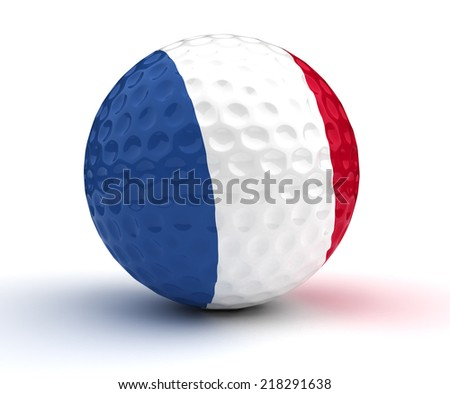 French Golf Ball (Isolated with clipping path) - stock photo