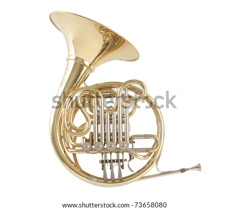 French horn the sound of music - stock photo