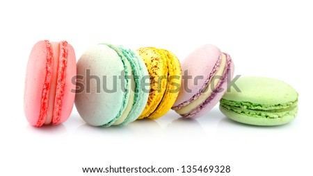 French macaroons .Dessert - stock photo