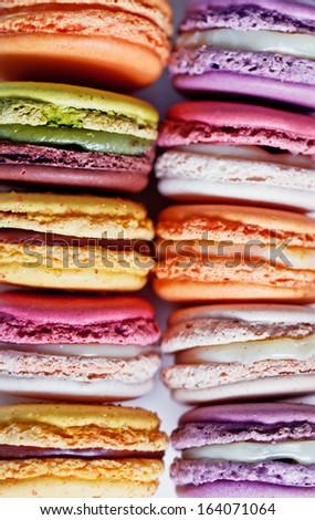 French macaroons. Dessert - stock photo