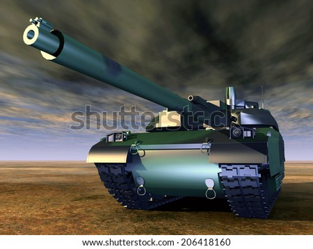 French Main Battle Tank Computer generated 3D illustration