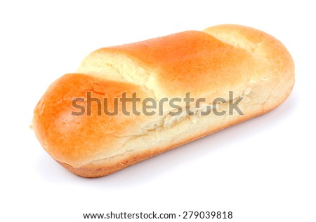 French milk bread on a white background - stock photo