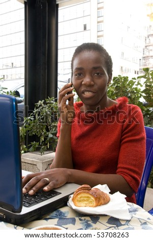french model - stock photo