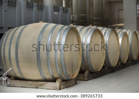 storage oak wine barrels. French Oak Wine Barrels At A Winery. Italian Storage