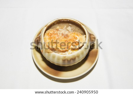 French onion gratin soup - stock photo