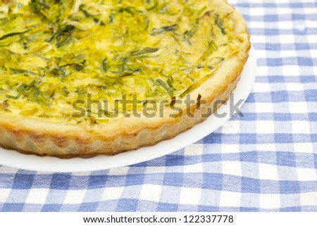 French onion quiche - stock photo