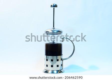 French press coffee. - stock photo