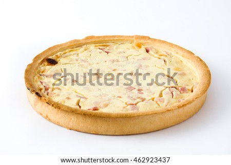 French quiche with bacon and cooked ham