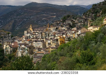 French Riviera, Alpine landscape: little village, charm of medieval city