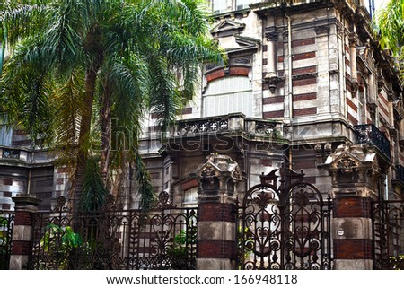 french style building in Buenos Aires, Argentina - stock photo