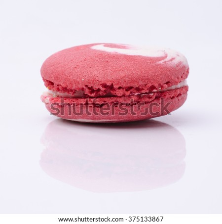 french sweet delicacy, macaroon variety closeup.