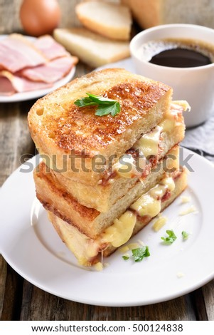 French toast, grilled cheese sandwich for breakfast