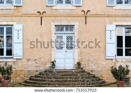 French Winery Doors at Entrance of Winery in Bourgogne Wine Region October 2017 & French Winery Doors Entrance Winery Bourgogne Stock Photo 753557923 ...