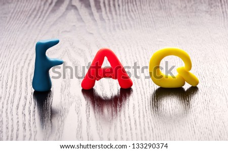 Frequently ask question concept - stock photo