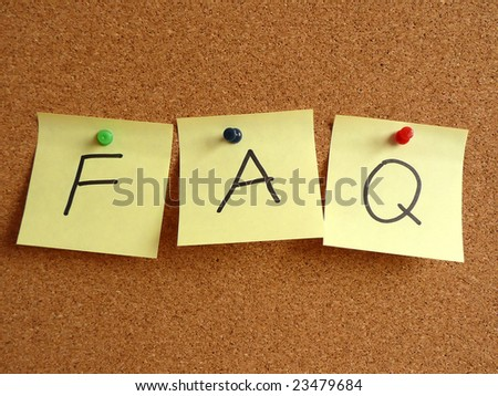 Frequently asked questions. - stock photo
