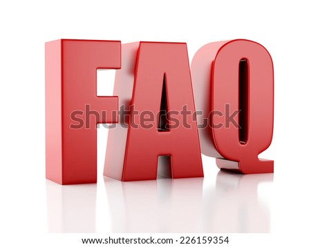 Frequently Asked Questions. FAQ concept. 3d illustration - stock photo