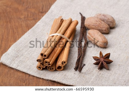 Fresh and aromatic spices - stock photo
