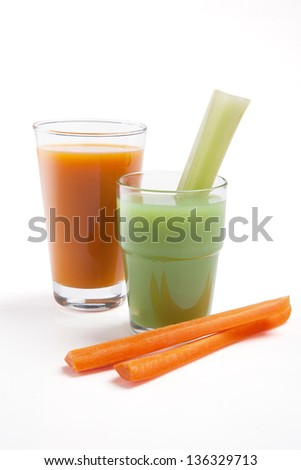 fresh and carrot juice