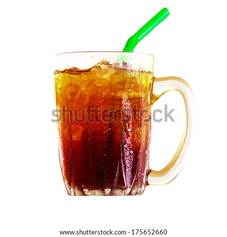 fresh and cold nectar drink in glass - stock photo