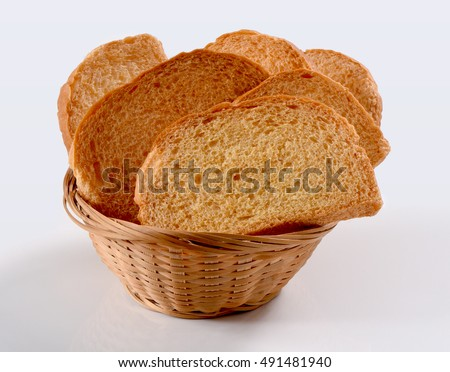 Fresh and crispy Tea Rusks in bucket serving for breakfast