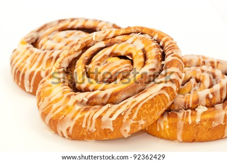 Fresh and delicious cinnamon rolls - stock photo