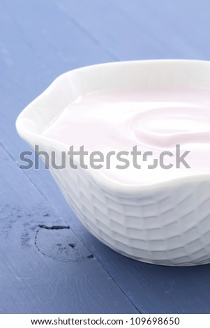 fresh and delicious creamy yogurt, healthy smooth snack, perfect at any time. - stock photo